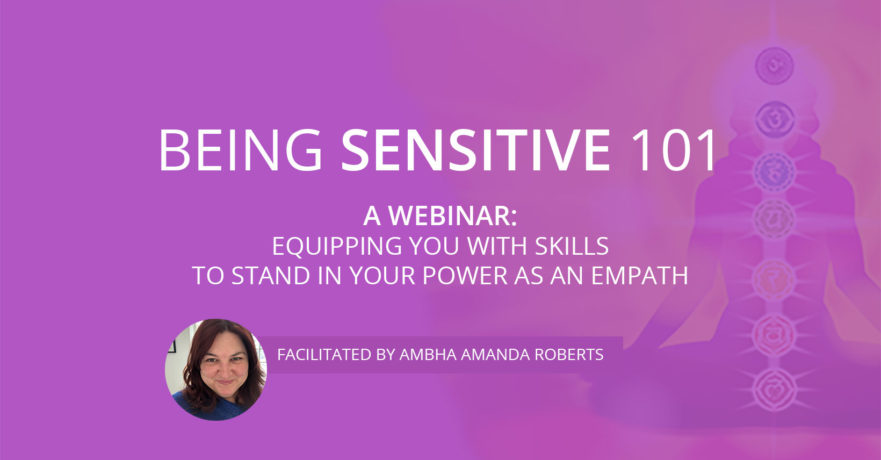 Being Sensitive 101 webinar